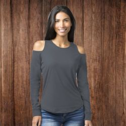 T31 Women's Cold Shoulder Long Sleeve T-Shirt Thumbnail